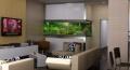 Расширить пространствоквартиры-студии можно при помощи игры света